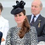 Kate wears Hobbs 'Dalmatian' print coat as she officially names Royal Princess ship