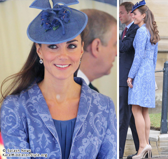 Kate Middleton in blue coat
