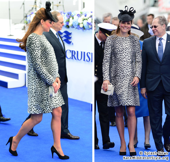 Kate at the Royal Princess naming ceremony today