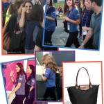 Kate Middleton carrying a large Longchamp la pilage bag at the London 2012 Olympics
