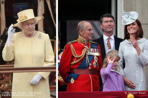 Queen & Prince Philip at Trooping the Colour 2012