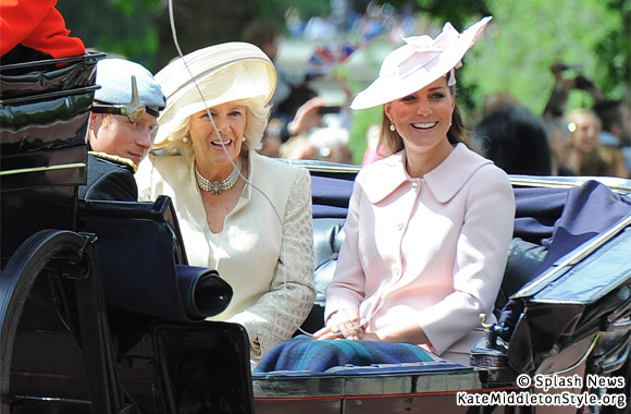 Kate with Harry and Camilla at Trooping the Colour 2013