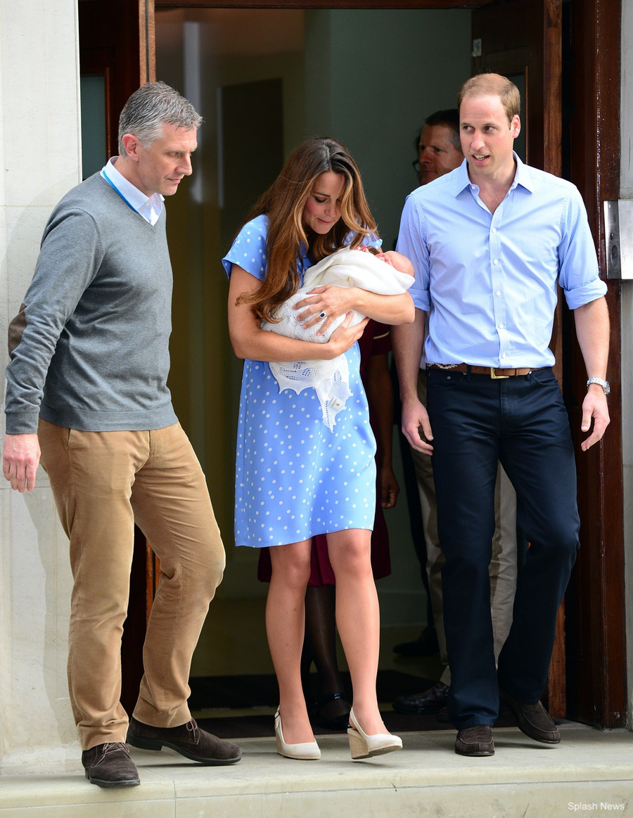 William and Kate with their new baby boy