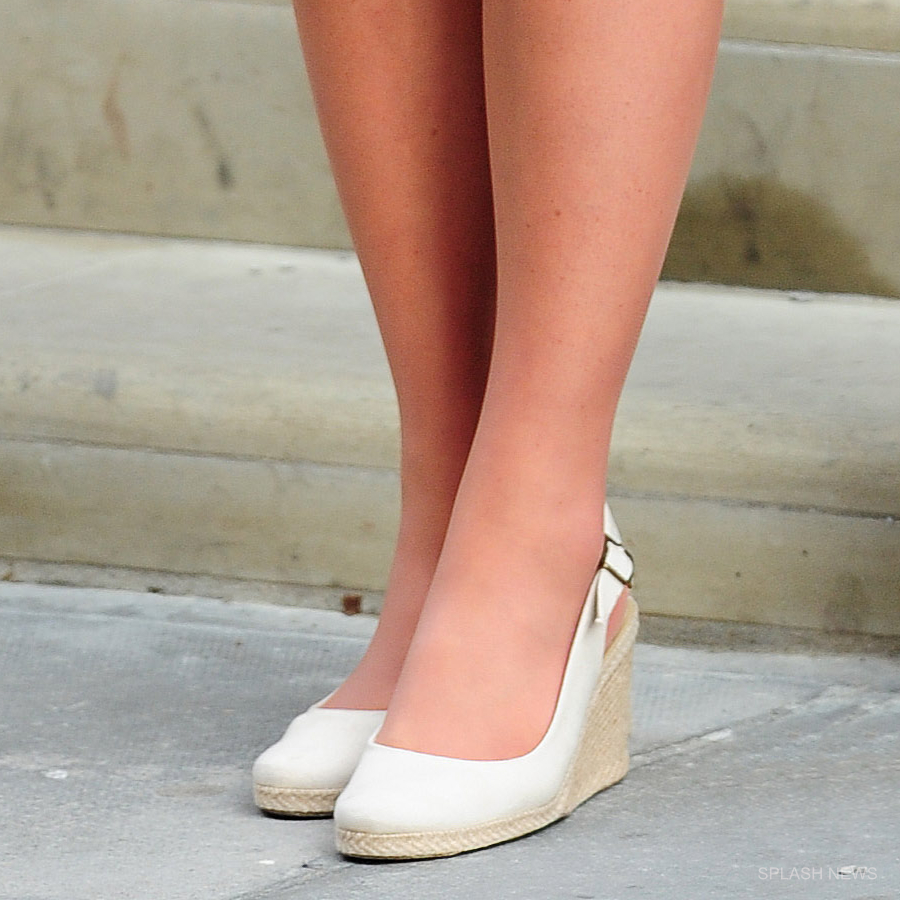 Kate Middleton's white wedges