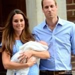 new parents, Will and Kate with their baby
