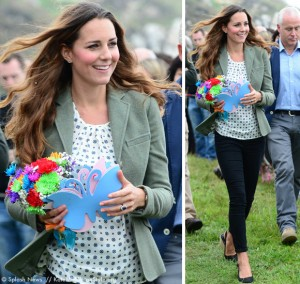 Kate's back to work: at Anglesey ultra-marathon, first engagement since birth of Prince George!