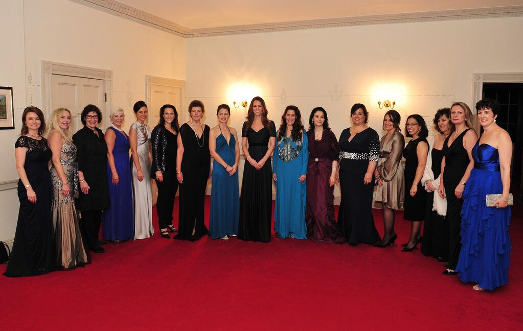 HRH The Duchess of Cambridge meets 100WHF Association and London Board members