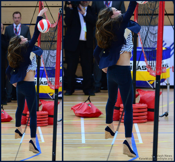 Kate plays volleyball