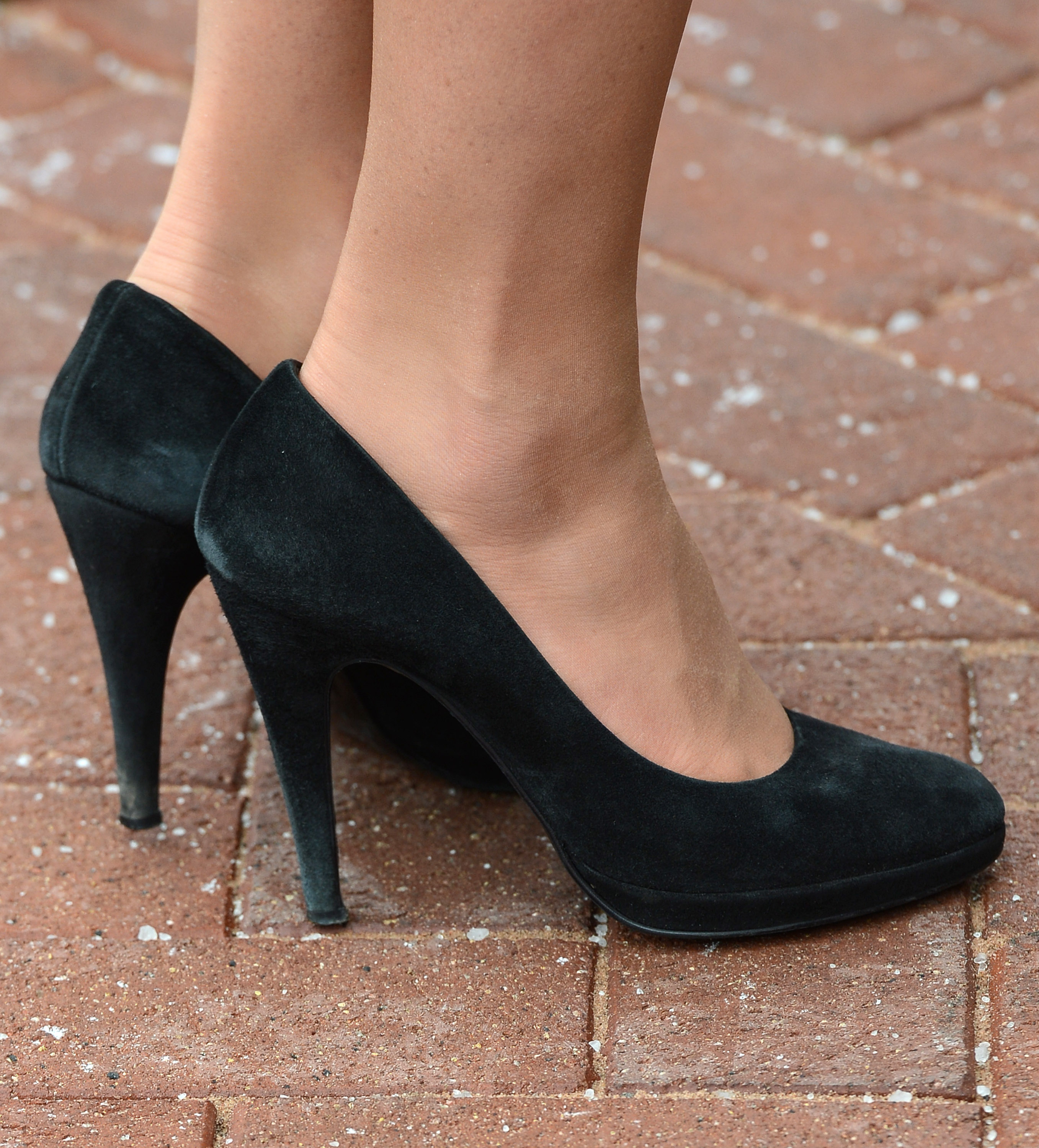 Kate Middleton's Angel Episode Black Suede Heels