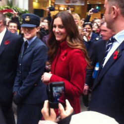 Kate in L.K. Bennett Ami coat for London Poppy Day event, plus several tidbits worth sharing