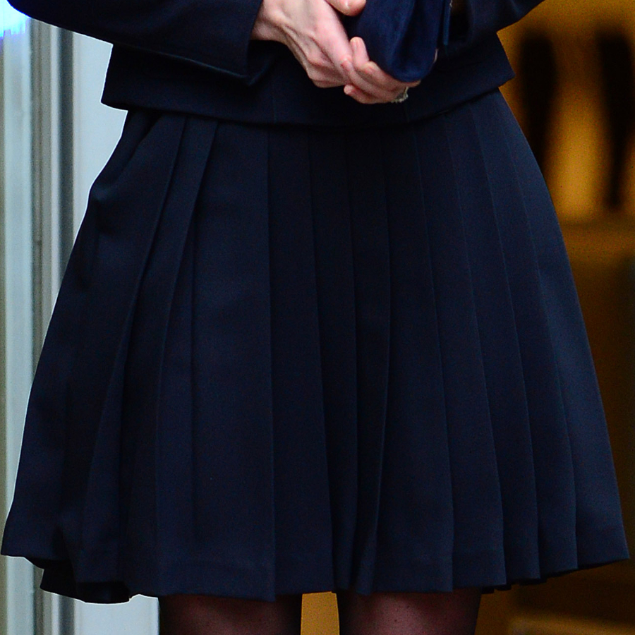 Kate Middleton's blue pleated Orla Kiely skirt
