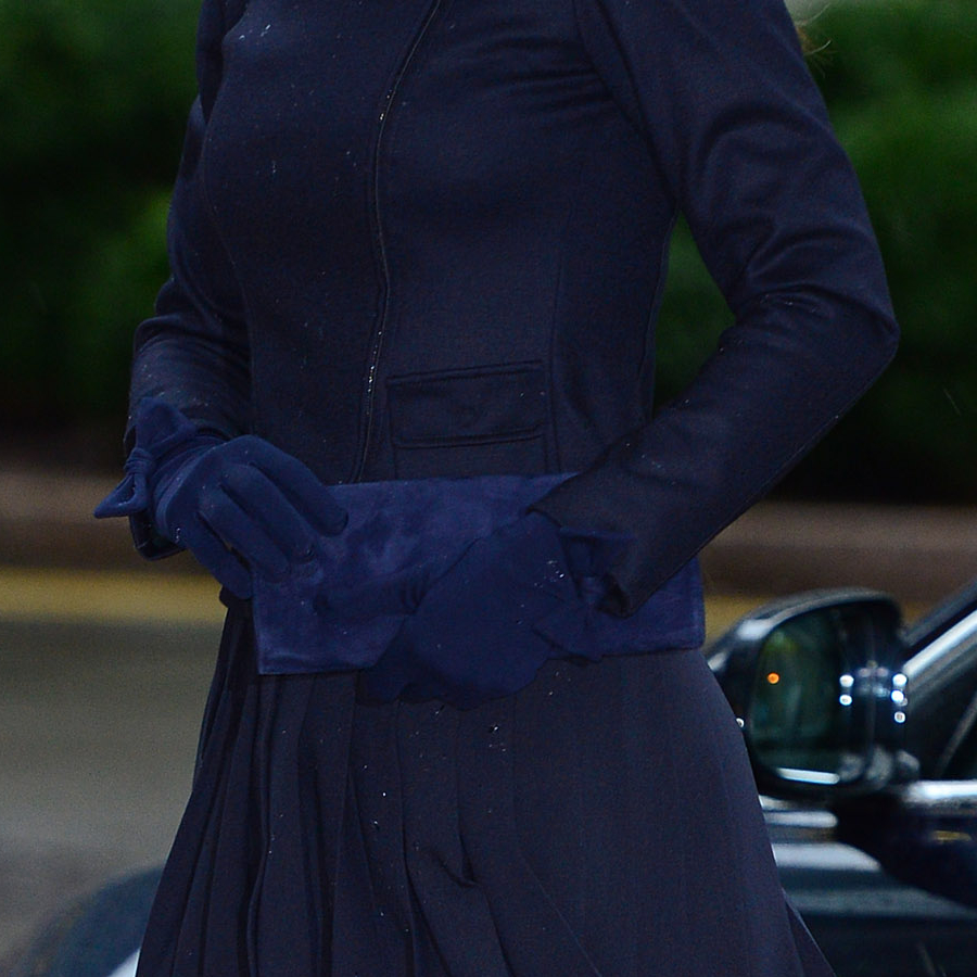 Kate Middleton's blue clutch bag