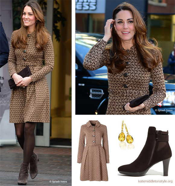 Kate wears Orla Kiely, Kiki McDonough and Aquatalia to Only Connect engagement today