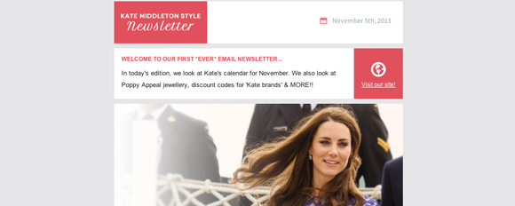 A sneak peak at my Kate Middleton Style Newsletter