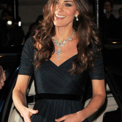 Kate dazzles at Portrait Gala in diamond statement necklace and Jenny Packham dress