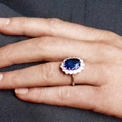 Kate Middleton Engagement Ring Replica Of The Sapphire