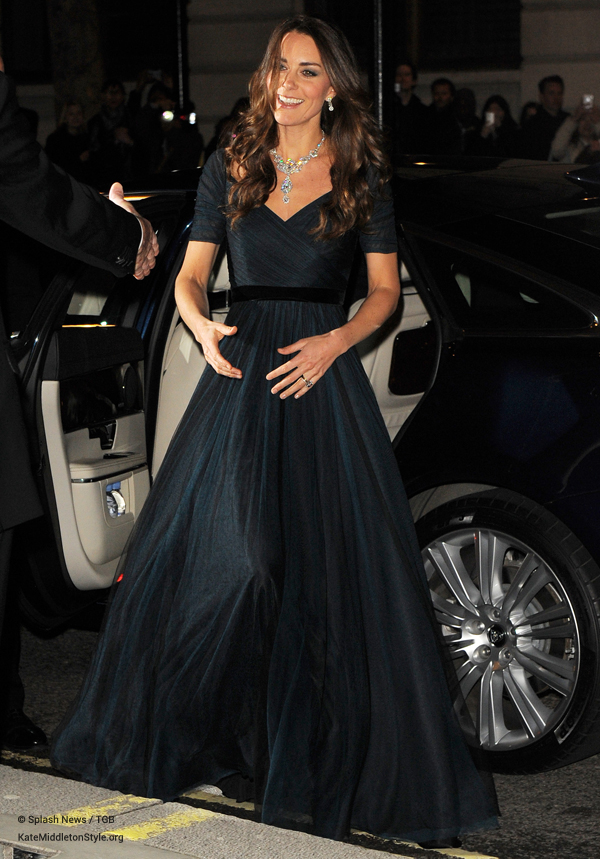 Kate Middleton in her Jenny Packham dress