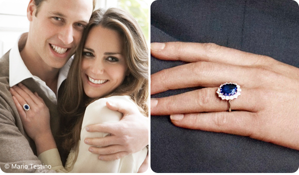 Kate and William's official engagement pictures by Mario Testino ... Princess Diana Wedding Band