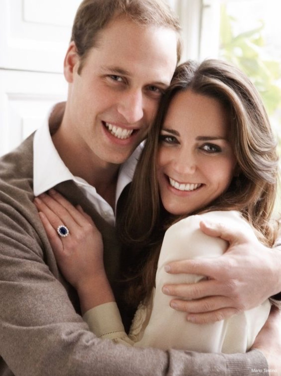 Prince William and Kate Middleton's Engagement Portrait