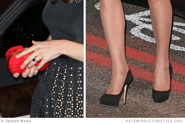 Kate Middleton in her Jimmy Choo Cosmics