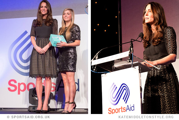 Kate hands out an award at the SportsBall
