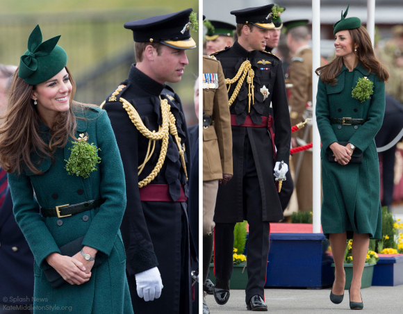 Both the Duke and Duchess of Cambridge Attended The St. Patrick's Day Parade