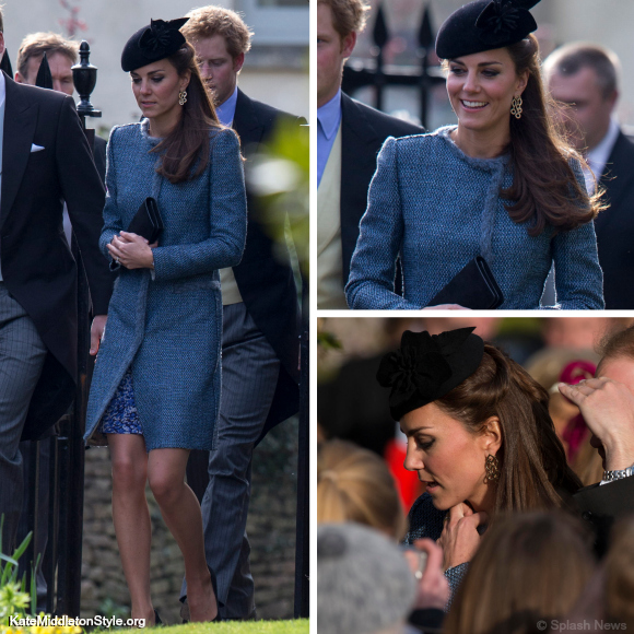 Kate re-wears her blue M Missoni coat