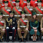 Kate and William with Irish Guard Officers
