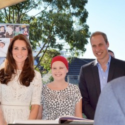 Day twelve, Kate wears white in Sydney