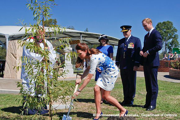 The royal duo plant a commemorative tree