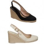 Pied A Terre Wedges in Black and Natural