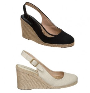 Pied A Terre Imperia Wedges in Black and Natural
