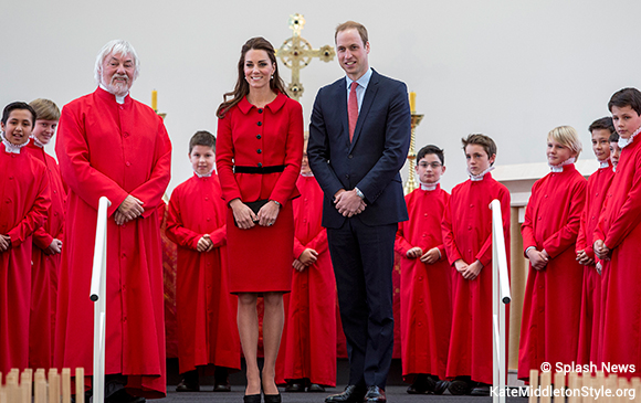 William and Kate in the 'Cardboard Cathedral', Christchurch NZ.
