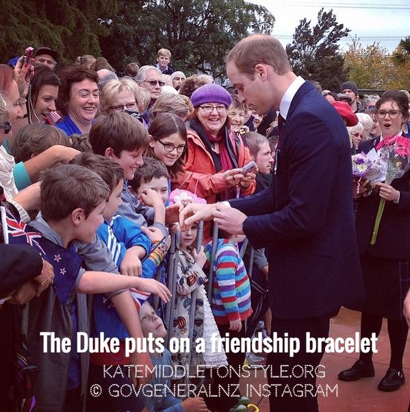 The Duke wears a friendship bracelet