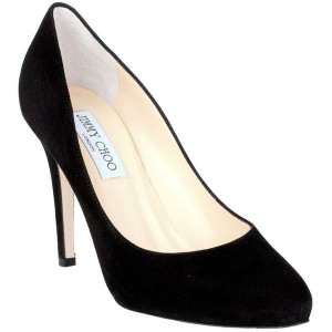 Jimmy Choo Vikki shoe in black Suede