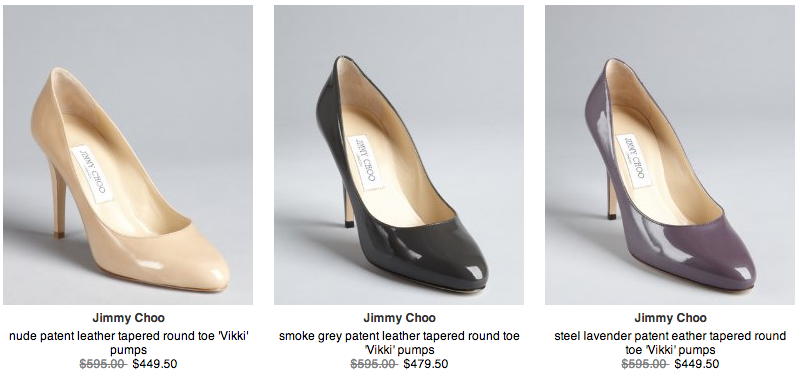 Jimmy Choo Vikki in different colours