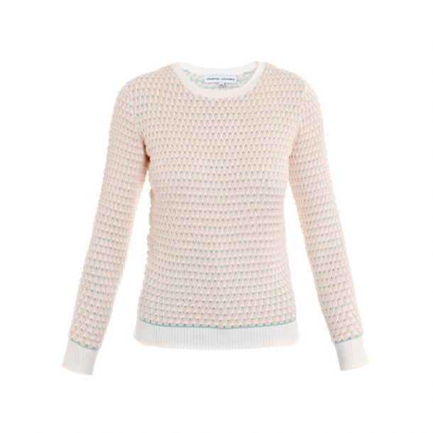 Johnathan Saunders Taupe Oval Cotton Sweater