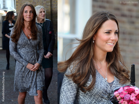 Kate wore this MaxMara dress while three months pregnant with baby George