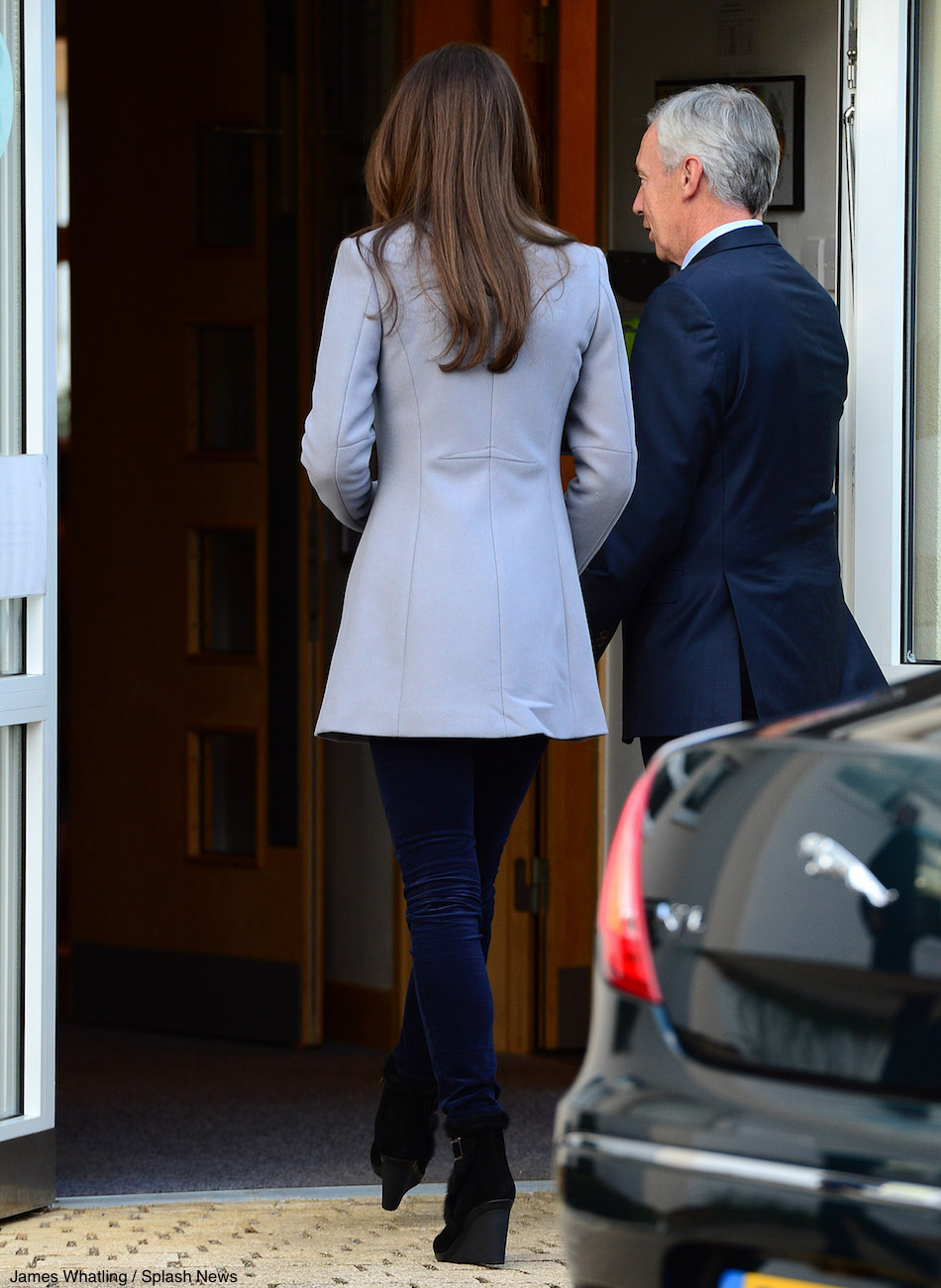 Kate Middleton wearing the Aquatalia boots to the shooting star house hospice