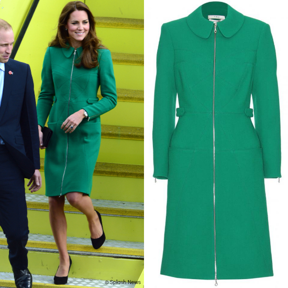 Kate Middleton wows the crowds in this green Erdem coat