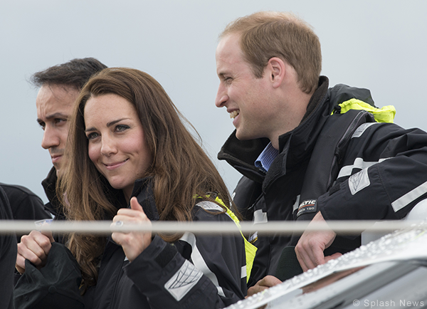 Kate Middleton in her Musto sailing jacket