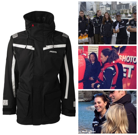Kate white water rafting in her Musto jacket, which she also wore yachting.