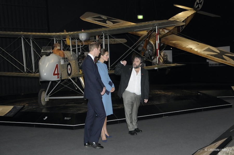 William and Kate touring vintage airplanes
