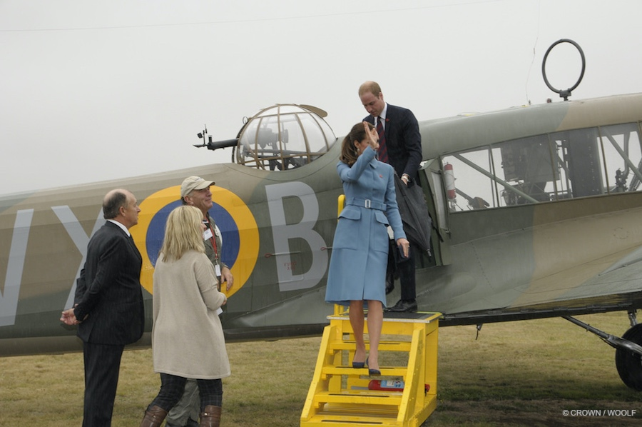William and Kate touring vintage aircraft in New Zealand