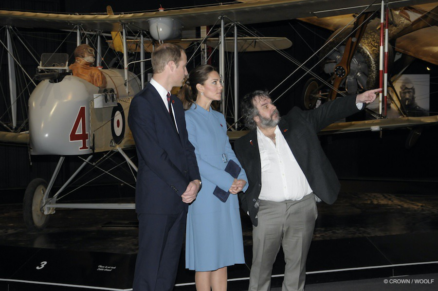 William and Kate meet Peter Jackson in New Zealand