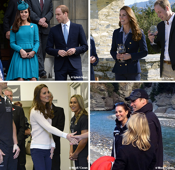Kate Middleton's outfits in NewZealand