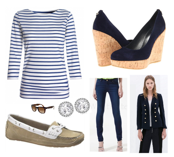 Kate's outfit for the day yachting and sailing in Auckland