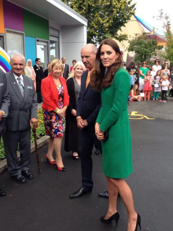 Kate visits the hospice.  Photo courtesy of Governor-General of NZ @GovGeneralNZ