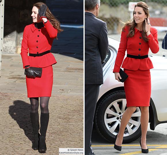 Kate Red Luisa Spagnoli Suit