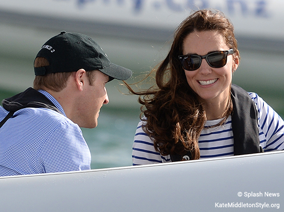 Kate and William on Sealegs, Kate's wearing her RayBan sunglasses